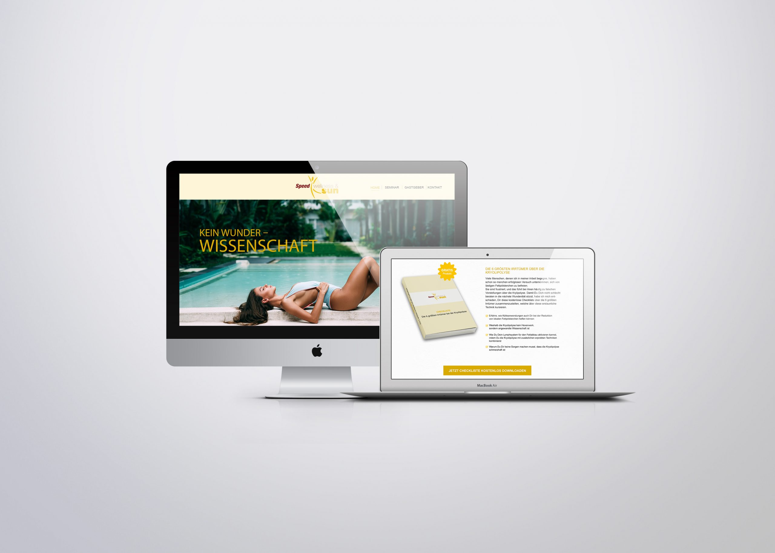 Speed Wellness & Sun Landingpage